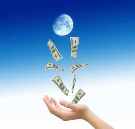 luna dinero rituales
